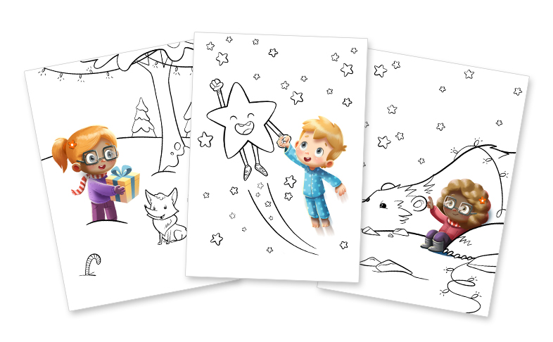 your little one will enjoy hours of fun coloring our joyful christmas illustrations